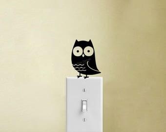 Owl Vinyl Decal Sticker Light Switch Home Decor