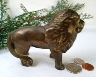 Lion Coin Bank – Mid Century – Cast Iron