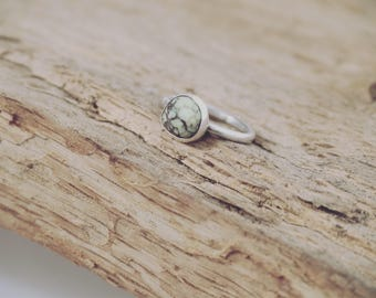 Small Variscite Ring - Made to order