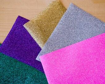 7 oz glitter iron on vinyl scraps (small patches), gold glitter, silver glitter, DIY sets, fabric transfers, iron on design