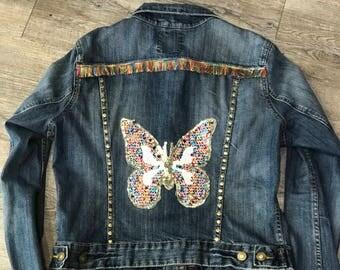 Customized denim jacket