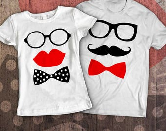 Couple shirts / matching couple shirts / couples costume / his and hers shirts / wedding t shirts / mr and mrs shirts / couples t shirt