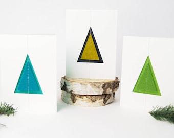 Quadu Christmas Card – Tree – Ivory