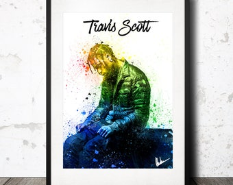 Travis Scott a4 Poster Print Limited Edition /  Rodeo Birds in the Trap Sing McKnight Astroworld