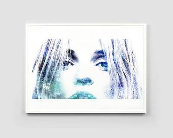 Kate Moss Print, Kate Moss Poster, Kate Moss Portrait, Fashion Model Print, Fashion Model Poster, Printable Kate Moss, Kate Moss Wall Art