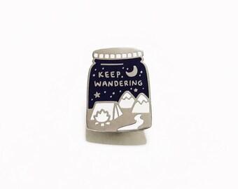 Keep Wandering Cosmic Galaxy Space Enamel Pin Badge