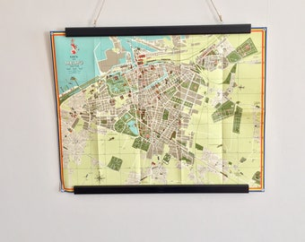 Mid century colorful map of Malmö, Sweden