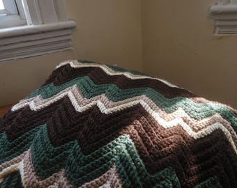 Zigzag Blanket: Forest