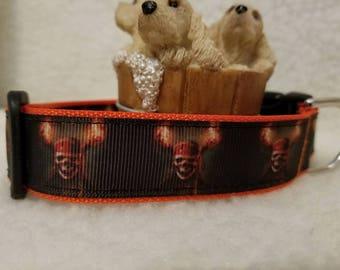 Pirates Handmade Dog Collar 1 Inch Wide Large & Medium