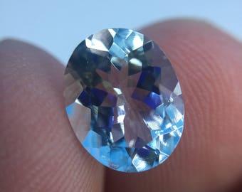 One 2.45 carat Oval Shape Aquamarine of Medium Blue & Good Clarity w/ IAS Jewelry Appraisal WAS 644 NOW 500!