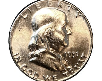 1951 Franklin Half Dollar - Gem BU / MS / Unc