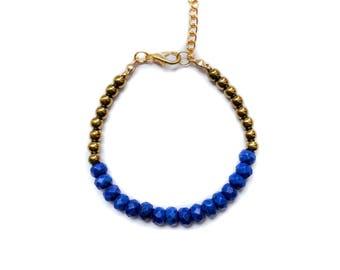 Gemstone Bracelet, beaded bracelet, gypset bracelet, boho bracelet, friendship bracelet, natural stones bracelet hematite