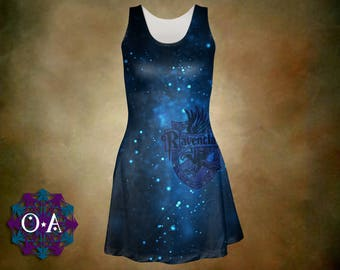 Ravenclaw Dress - Harry Potter Dress Magical Dress Hogwarts Dress Hogwarts House Dress Plus Size Dress Ravenclaw House Oddity Apparel