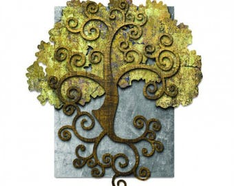 Ralph Burch licensed collection, this Tree Of Life 3D-Metal Signs measures 31 inches by 24 inches