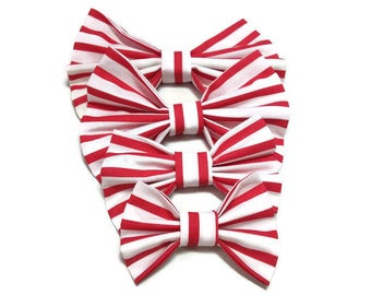 white red stripped bow ties for owner and dog lovers ideas for dog and cat FREE GIFT