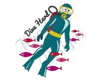 Scuba Dive - Machine Embroidery Design