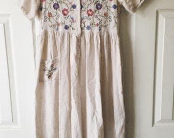 Gretel Floral Embroidered Dress