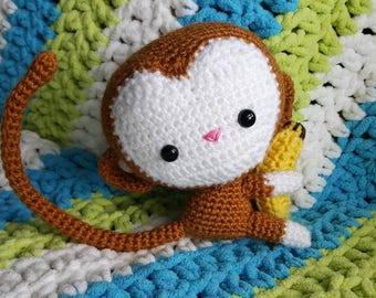 Monkey with Banana Amigurumi