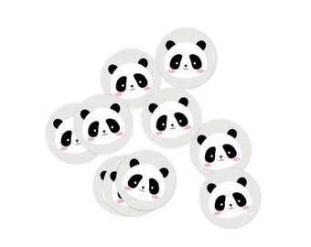 Set of 10 Panda Stickers