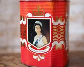 Queen Elizabeth II Red Tea Caddy