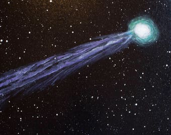 Comet Lovejoy, 12 x 20  acrylic on canvas, original painting