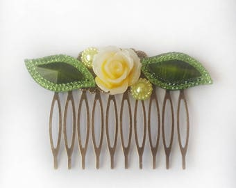Hair comb | vintage style hair comb | wedding hair comb | rose hair accessory