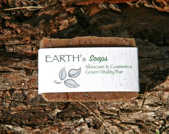 Green Tea Peppermint Vitality Soap Bar with Wintergreen Essential Oil