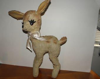 Vintage 18inch Plush Deer