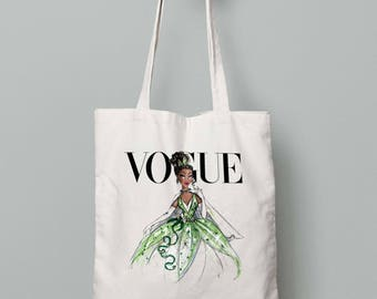 Disney Diva Tatiana Princess and the Frog Canvas Tote Bag Shopper Shopping Everyday Gift Present