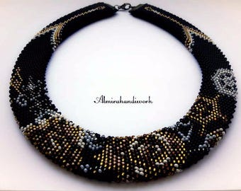 Necklace-choker beaded Exquisite Gothic