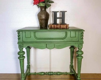 Lovely green accent table