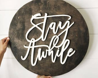 "24"" Round Wood Sign 