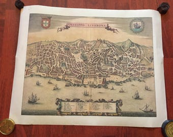Old map of Lisbon