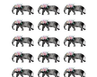 Elephant Stickers -- Charlie Kipling Stickers -- 21 Elephant Matte Stickers