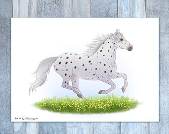 Wall Art, Appaloosa Horse, Print Illustration