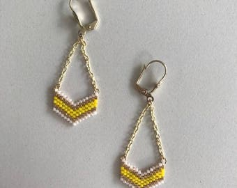 ∎ VICTORY ∎ earrings chevron - yellow tones