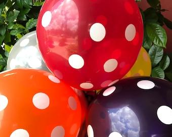 Polka Dots Balloons set of 10