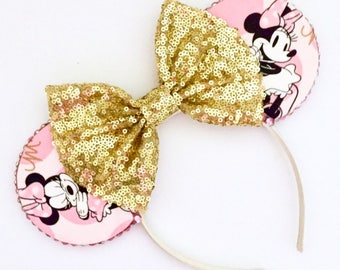 The Sassy Mouse (Pink) - Handmade Minnie Mouse Inspired Mouse Ears Headband