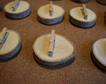 Natural Wood Magnetic Pegs - Box of 17