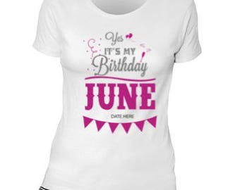 SVG and DXF Its My Birthday June  -Other Months available on Request -Add your own Date