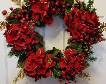 Christmas wreath/ winter wreath/ front door wreath/ door wreath/housewarming wreath