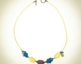 The necklace in blue clouds