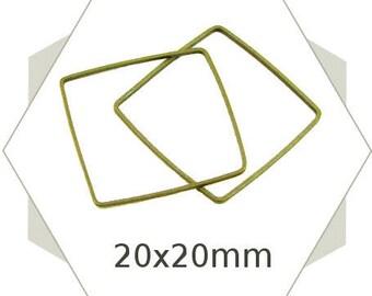 Bronze BB123 20 square closed ring