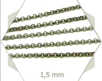 1m bronze coloured shackled chain, several use chain, jewellery chain, CHB15