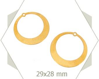 8 charms Creole gold matte, BG78