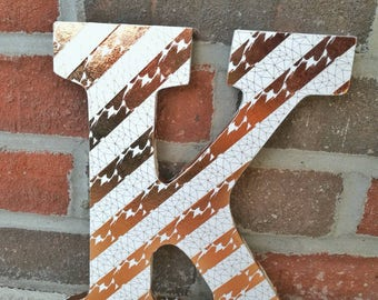 Decorative Letter, Monogram Decoration-modern, letter decor, nursery decor, decorated wooden letter,