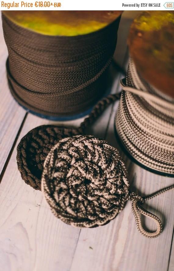 SALE 30 % Rope yarn, chunky yarn, knitting supplies, knitting yarn, diy crafts, crochet rope, crochet supplies, macrame cord, rope cord #8 #