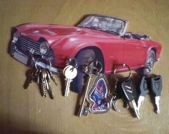 triumph tr4 hook key/triumph TR4 keychain