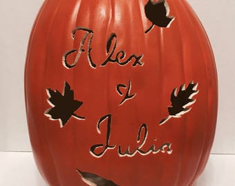 Personalized Couple's Name Pumpkin