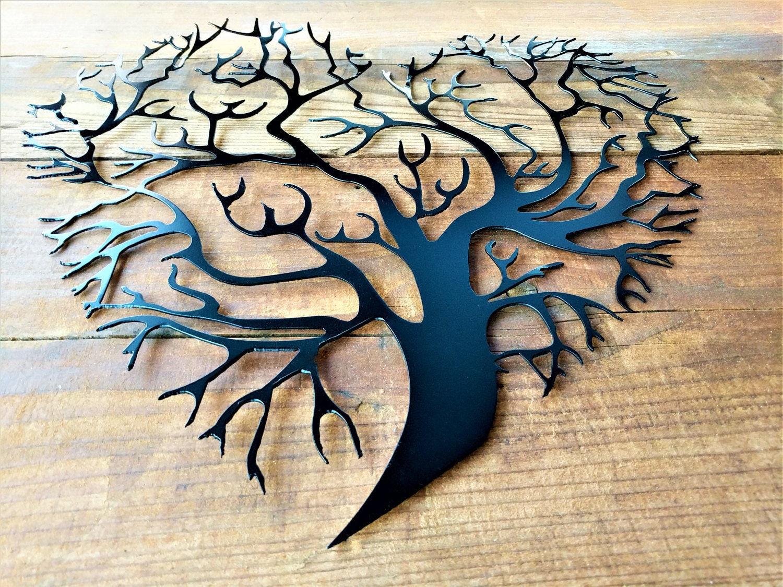 Metal Tree Of Life, Metal Tree Wall Art, Tree Wall Decor, Tree ...